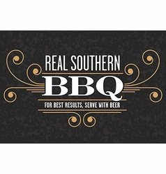Real Southern Barbecue Emblem vector