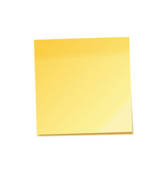 realistic sticky note with shadow yellow paper vector image