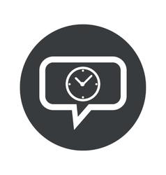 Round clock dialog icon vector