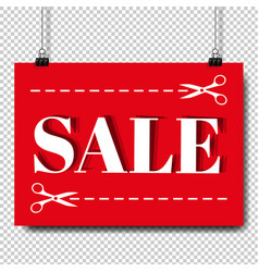 sale banner and text transparent background vector image