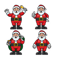 santa set cartoon vector image