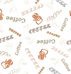 Seamless texture word coffee vector