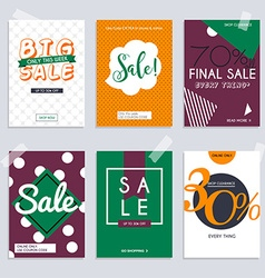 Set media banners with discount offer Shopping vector image