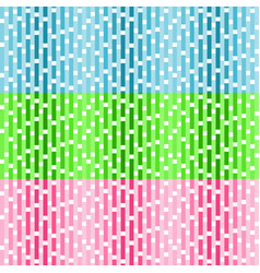 set of seamless patterns with white squares vector image