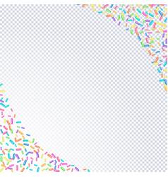 Sprinkles grainy frame on a transparent background vector