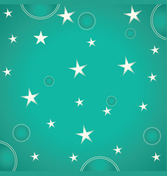 stars and circles on green background vector image