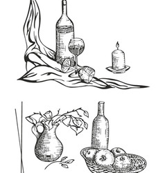 Still life sketches vector