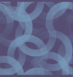 Stippled circles texture trendy seamless pattern vector
