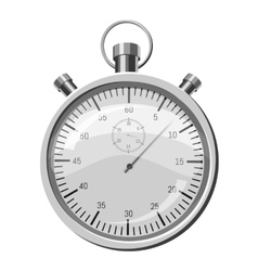 Stopwatch icon gray monochrome style vector