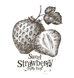 Strawberry logo design template fresh vector