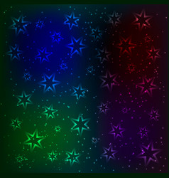the magic pattern glowing stars and sparkling vector image