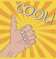 thumb up hand gesture - cool vector image