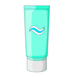 toothpaste in blue tube icon cartoon style vector image