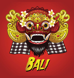 Traditional balinese barong mask vector