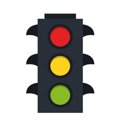 traffic lights symbol vector image