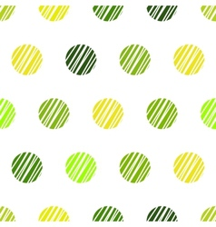 Vintage green background with grunge polka dots vector