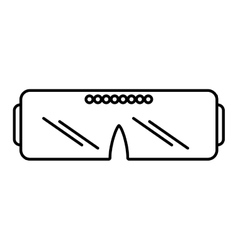 vr glasses device gadget outline vector image