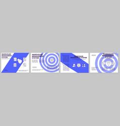 Warehouse management blue brochure template vector