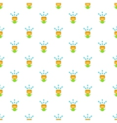 Watering can for garden pattern cartoon style vector image