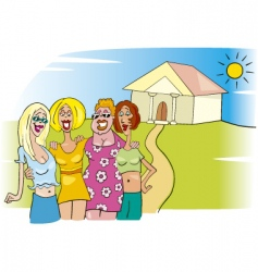 women meeting vector image