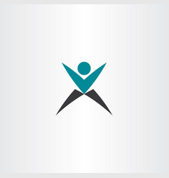 x logo letter logotype man icon sign vector image