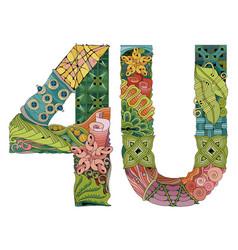 4u for u decorative zentangle object vector image vector image