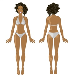 African American woman in swimwear vector image vector image