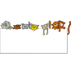 cats with frame cartoon design vector image vector image