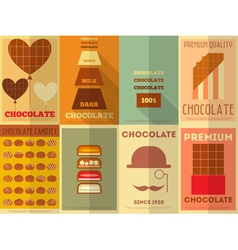 Chocolate Retro Posters vector image vector image