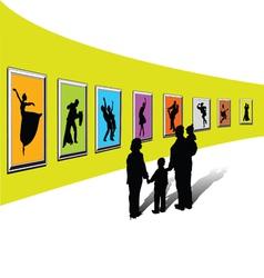 Gallery exhibition-1 vector