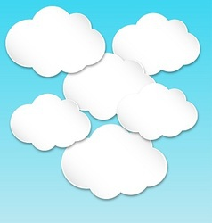 Paper white clouds vector image vector image