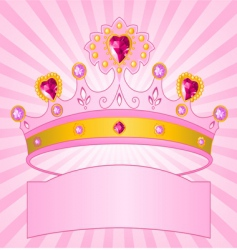 princess crown on radial background vector image