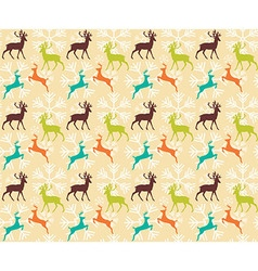 Seamless pattern with reindeers vector image vector image