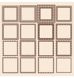 Set of Square Frames vector image vector image