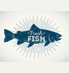 silhouette of fish in the graphic style vector image vector image