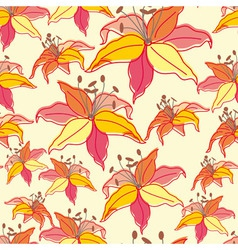 Stylish beautiful bright floral seamless pattern vector image vector image