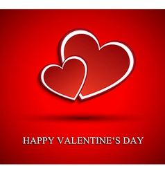 Two red hearts for Valentines day vector image