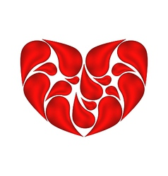 Abstract heart made aaof drops blood vector image vector image