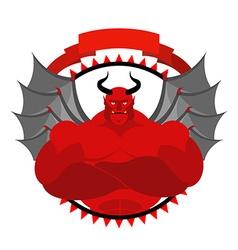 Dreaded scary satan logo for a sports team or vector
