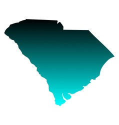 Map of South Carolina vector image vector image