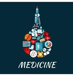 Medical flat icons shaped as enema symbol vector image vector image