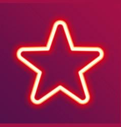 neon glowing star vector image