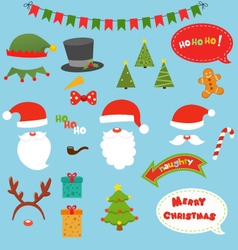 Christmas Prop Set vector image vector image