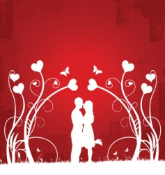 couple kissing | red 1 vector image vector image