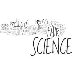 Go on a science fair tips adventure text vector