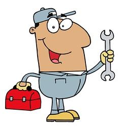 Hispanic Mechanic Guy vector image vector image