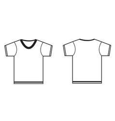 tshirt icon on white background blank tshirt vector image