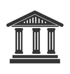 bank building symbol icon vector image vector image