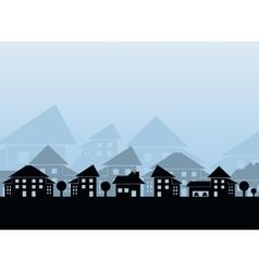 Estate skyline vector image vector image