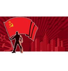 Flag Bearer USSR Background vector image vector image